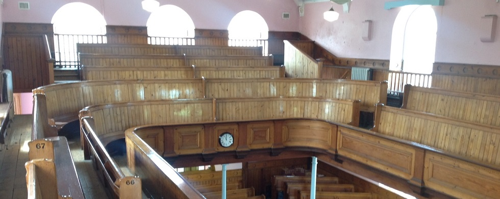 Upstairs view of inside front