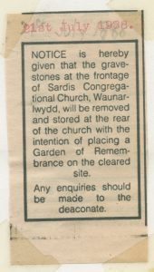 Notice 1988 of Garden of Remembrance