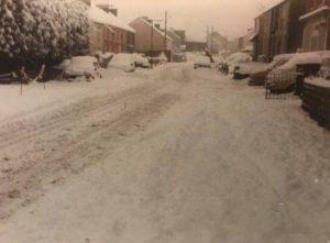 Snow on Swansea Rd